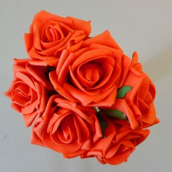Colourfast Cottage Foam Roses Bundle Orange 6 Pack - R610 T1