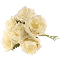 Foam Roses Bundle Cream 6 Pack - R082