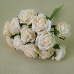 Tiny Foam Roses Bunch Colourfast Beige - R373 GG2