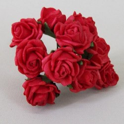 Tiny Foam Roses Bunch Red - R375 BX16