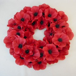 Remembrance Day Poppy Wreath 40cm - AG021 GS1B