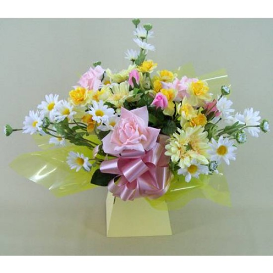 Silk Flowers Hand Tied Bouquet Spring Cheer - ABV003