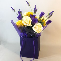 Artificial Flowers Bouquet of the Season (complete with Flower Vase) - ABV008