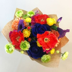 Artificial Flowers Hand Tied Bouquet Rainbow - ABV002