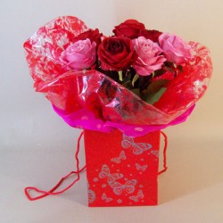 Artificial Flowers Valentine's Bouquet | Love is - ABV033