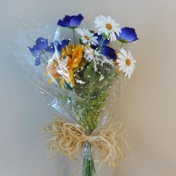 Artificial Sunflowers and Poppies Gift Bouquet - ABV005