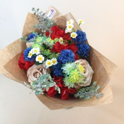English Garden Faux Flowers Gift Bouquet - ABV010