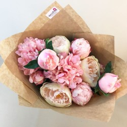 Faux Flowers Perfect Peony Bouquet Pink - ABV007
