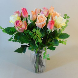 Freya Letterbox Bouquet Mixed Roses - LBF017 see Video in Description tab below