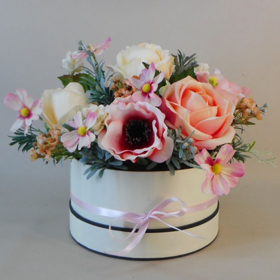 Isabella Hat Box Flowers - ABV052