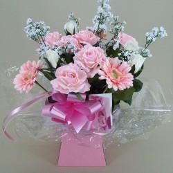 Silk Flowers Gift Bouquet - It's a Girl - BBV007