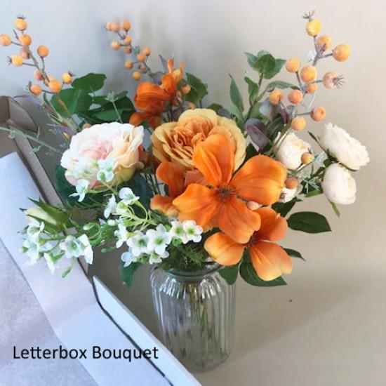 A Letterbox Bouquet Autumn Artificial Flowers - LBF001 see Video in Description tab below