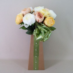 Artificial Flowers Gift Bouquets - Peony Perfection - BBV016