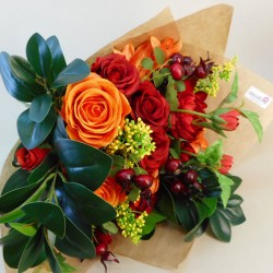 Pumpkin Spice Faux Flowers Gift Bouquet - ABV021 Created by Helen