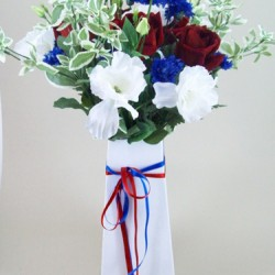 Rule Britannia Silk Flowers Gift Box Bouquet - ABV001