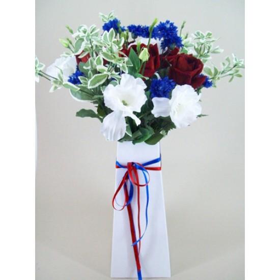 Rule Britannia Silk Flowers Gift Box Bouquet - ABV001