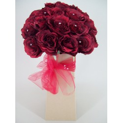 Silk Flowers Gift Bouquet - Diamonds are Forever - BBV013