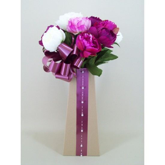 Silk Flowers Gift Bouquets - Peony Perfection - BBV010