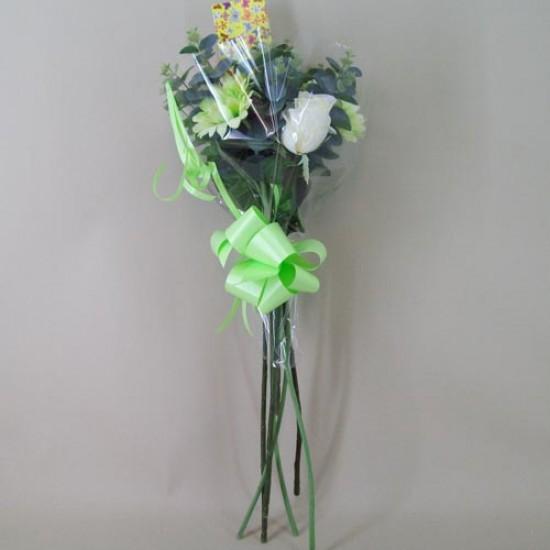Silk Flowers Gift Bouquet Lime Sensation Silk Rose and Gerbera - ABV017