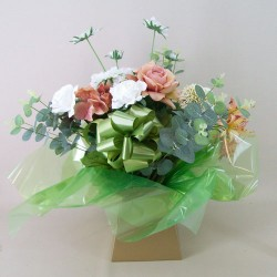Silk Flowers Gift Bouquet - Vintage Peach - ABV026