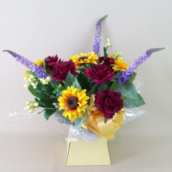 Silk Flowers Gift Bouquet - Autumn Harvest - BBV004a