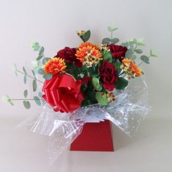 Silk Flowers Gift Bouquet - Autumn Brights - BBV001a