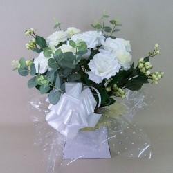 Silk Flowers Gift Bouquet - White Meringue - BBV018