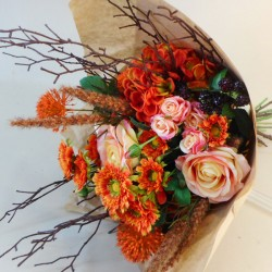 Evening Sunset Faux Flowers Gift Bouquet - ABV022 Created by Kirsty