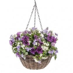 Large Artificial Petunias Hanging Basket Purple - HAN024 GR5