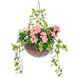 Large Artificial Hydrangeas Hanging Basket - HAN032 OFF