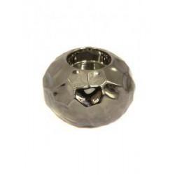 Home Store Dimpled Silver Ceramic Tealight Holder - DIM001 6B