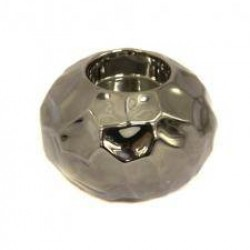 Home Store Dimpled Silver Ceramic Tealight Holder - DIM001 6B