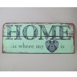 Home is Where my Heart is Quotation Wooden Wall Art  - HOME001