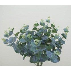 Silk Eucalyptus Bush Large Leaf Soft Green - EUC008