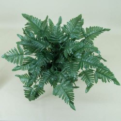 Large Artificial Leather Fern Plant - LEA001 F1