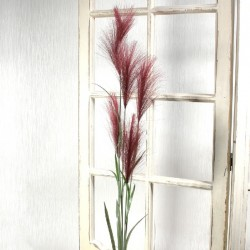 Artificial Pampas Grass Plum Red 145cm - PAM003