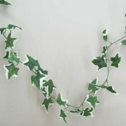 Artificial Variegated Ivy Garland Large Leaf 4 foot - IVY015