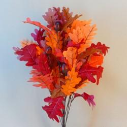 Artificial Oak Leaves Bush with Acorns - OAK003 FF3