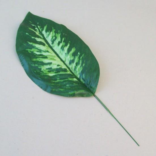 Artificial Dieffenbachia Leaf on Short Stem - DIE002 BX12