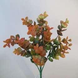 Artificial Eucalyptus Plant Orange Green - EUC017 F1
