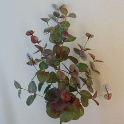 Artificial Eucalyptus Spray Green and Burgundy - EUC043 E3