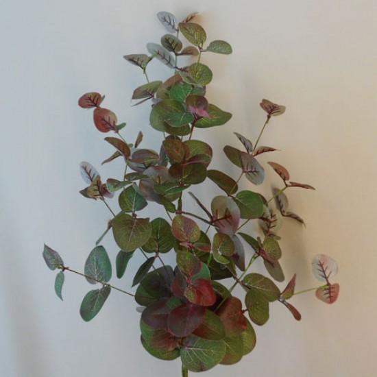 Artificial Eucalyptus Spray Green and Burgundy - EUC043 E3