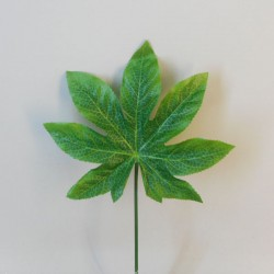 Artificial Fatsia Leaf on Short Stem - FA006 F4