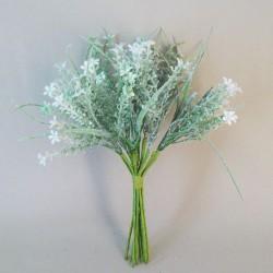 Flocked Artificial Flowering Thyme Bundle 29cm - THY005