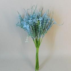 Flocked Artificial Flowering Thyme Bundle Blue 29cm - THY006 R3