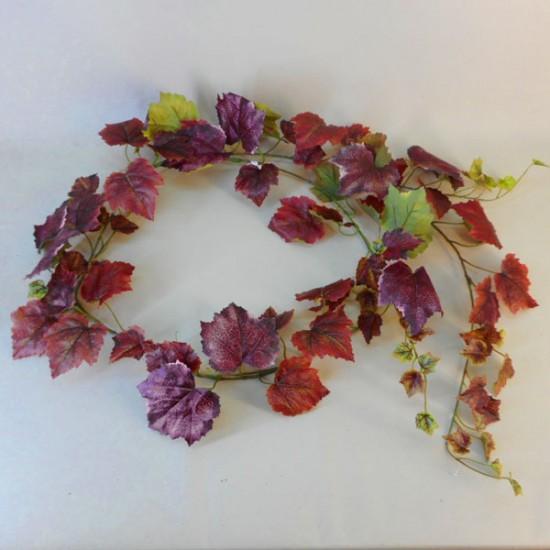 Artificial Grape Ivy Garland Burgundy - GRA009 EE1