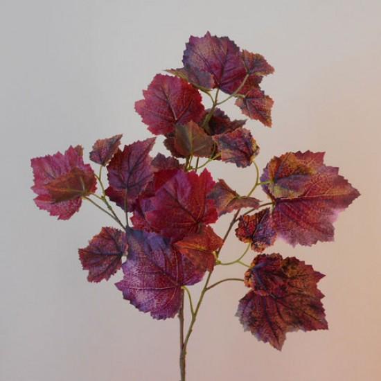 Artificial Grape Ivy Branch Aubergine Burgundy - GRA003 AA2