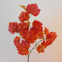 Artificial Grape Ivy Branch Red Orange - GRA004 AA2