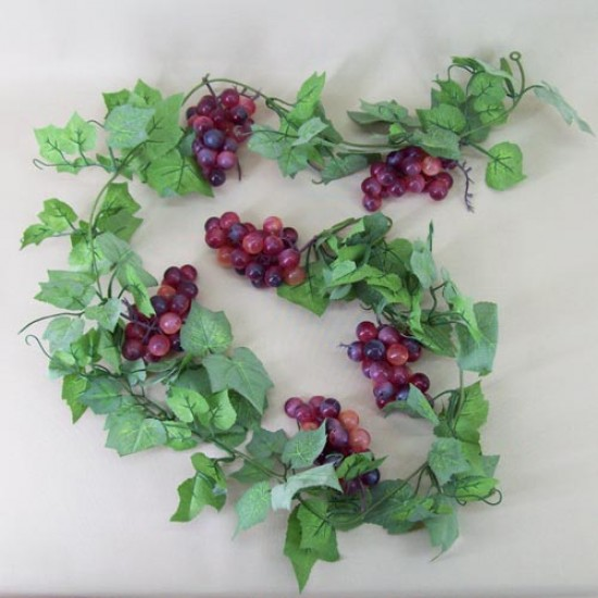 Artificial Grapes Garland Red - GRA011 EE3