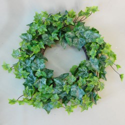 Artificial Ivy Wreath 40cm Rain Resistant - IVY050 H4